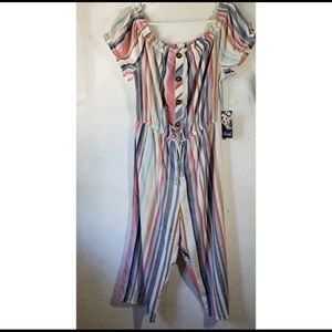 Colorful Striped Jumpsuit